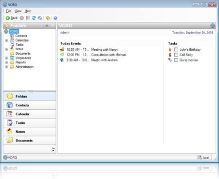 Windows 7 VORG Team - Organizer Software 1.9 full